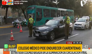 Chile: Colegio Médico pide endurecer cuarentena ante peligroso aumento de casos COVID-19