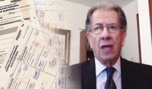 """Óscar Urviola sobre resultados de la segunda vuelta: """"La última palabra la tiene el JNE"""""""