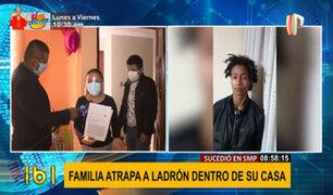 SMP: familia atrapa a ladrón en su casa, pero Fiscalía lo libera