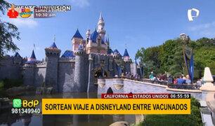 EEUU: sortean viaje a Disneyland para incentivar vacunación en California