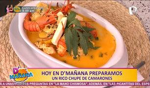 D'Mañana se luce con un delicioso chupe de camarones al estilo arequipeño