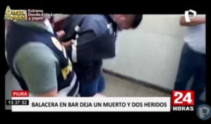 Piura: un muerto deja balacera tras pelea en bar