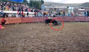 Hombre acabó siendo corneado reiteradas veces durante corrida de toros en Huancavelica