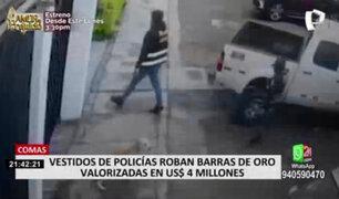 Comas: falsos policías robaron barras de oro valorizadas en 4 millones de dólares
