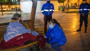 Cercado de Lima: MML rescatan a personas que pernoctan en la calle