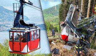 Revelan vídeo del momento del accidente de teleférico donde murieron 14 personas en Italia