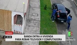 Comas: banda entra a vivienda para robar televisor y computadora