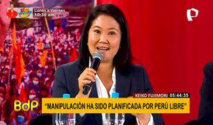"""Keiko Fujimori sobre """"fraude en mesa"""": """"pido al JNE que tome una decisión a conciencia"""""""