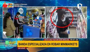 San Miguel: cámara identifica banda dedicada a robar minimarkets