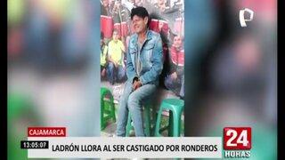 Cajamarca: ronderos castigan a ladrón y este se pone a llorar