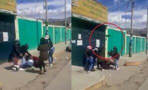 Huaraz: mujeres se enfrentan a escobazos por disputa de clientes