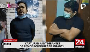 Agentes policiales capturaron a dos presuntos pedófilos en Chorrillos