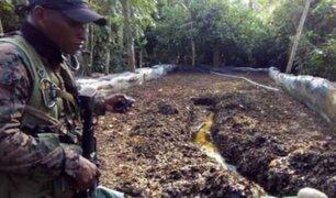 Destruyen pozas de maceración, maquinaria y miles de kilos de hoja de coca en el Vraem