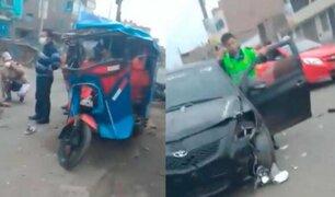 Comas: denuncian que policía en aparente estado de ebriedad causó accidente de tránsito