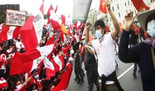 Así se desarrollan las manifestaciones de los simpatizantes de Fuerza Popular y Perú Libre