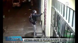 Los Olivos: asesinan a madre de policías en una fuente de soda