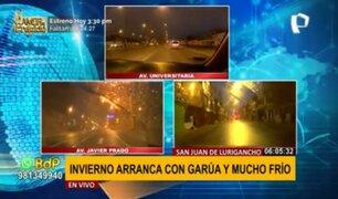 Invierno arranca con ligera garúa y mucho frío en varios puntos de Lima