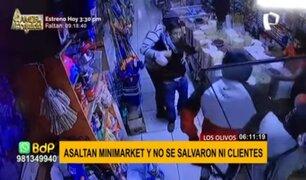 Los Olivos: delincuentes armados asaltan minimarket y se llevan celulares de clientes