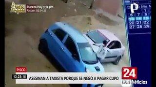 Pisco: sicarios asesinan a taxista que se negó a pagar cupo