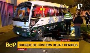 San Luis: al menos cinco heridos deja violento choque de cústers