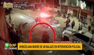 Puerto Maldonado: ciudadana venezolana muere de un balazo en intervención policial