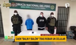 'Balín' y 'Balón': cae menor de edad y extranjero tras robar un celular a mujer