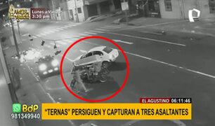 El Agustino: agentes Terna detienen a ladrones en mototaxi tras persecución