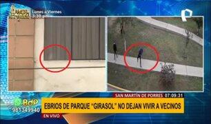 SMP: vecinos retiran a ebrios de parques y estos en venganza lanzan piedras a sus casas