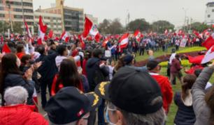 "Miembros en retiro de las FFAA realizan manifestación ""Respeta mi voto"""