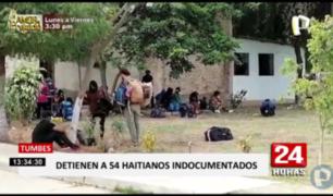 Tumbes: intervienen un bus con haitianos ilegales rumbo a Ecuador