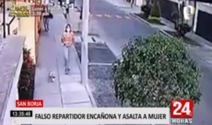San Borja: falso repartidor asalta a mano armada a una mujer