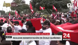 Óvalo Quiñones: miembros en retiro de las FF.AA. se congregaron para pedir que se respete su voto