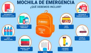 Sismo: sepa lo que debe contener la mochila de emergencia