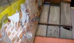 Varias viviendas colapsan en Pucusana tras sismo de anoche