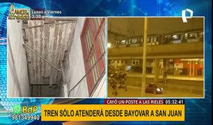 Sismo de 6.0: Metro de Lima sufrió corte eléctrico por caída de poste tras fuerte temblor
