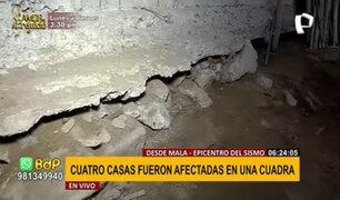 EXCLUSIVO   Desde Mala: muro de contención quedó en el aire tras fuerte sismo