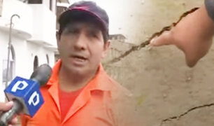 """Reportan grietas en terreno de AA.HH. """"Hogar Policial"""" tras sismo"""