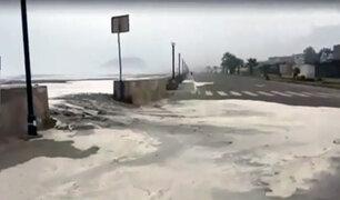 Sismo de 6.0 grados: mar sale algunos metros y llega hasta malecón de la playa Bujama