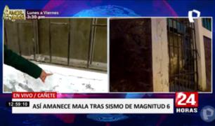 Cañete: vecinos atemorizados por daños a inmuebles piden ayuda