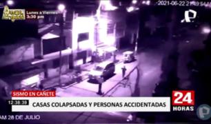 Cañete: cámaras registraron momentos de pánico por temblor de 6.0