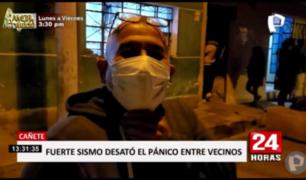 Cañete: temor en las calles tras temblor de 6.0