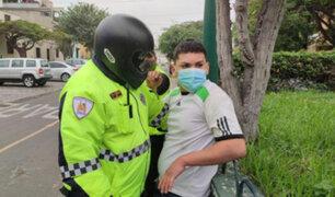 Surco: Conductor informal volcó mototaxi para evitar ser intervenido