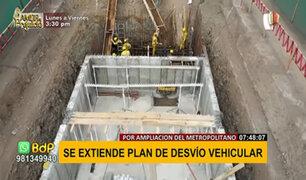 Por ampliación norte del Metropolitano: extienden desvío vehicular hasta av. Los Incas