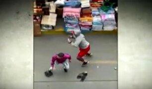 Mesa Redonda: cinco heridos deja enfrentamiento entre ambulantes y fiscalizadores