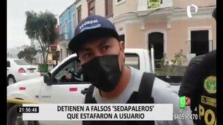 Capturan a falsos 'sedapaleros' que estafaron a usuario con 300 000 soles