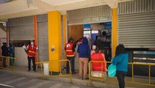 Arequipa: clausuran terminal que vendía pasajes hacia Juliaca y Puno pese a cerco epidemiológico