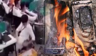 Celular se incendia y explota repentinamente dentro del pantalón de su dueño