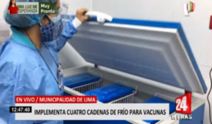 Municipalidad de Lima implementa locales de cadena de frío para vacunas