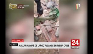 Carabayllo: hallan armamento de largo alcance tirado en la calle