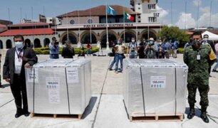 México entregó a Guatemala primer donativo de 150.000 dosis de vacuna contra la Covid-19